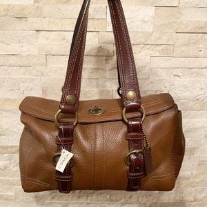 Coach Chelsea Pebbled Leather satchel/tote 10953